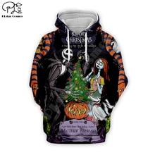цена Sally Jack Skelling print Men 3d Hoodies skull Pumpkin Christmas Halloween Corpse Bride women Sweatshirt tshirt zipper pullover