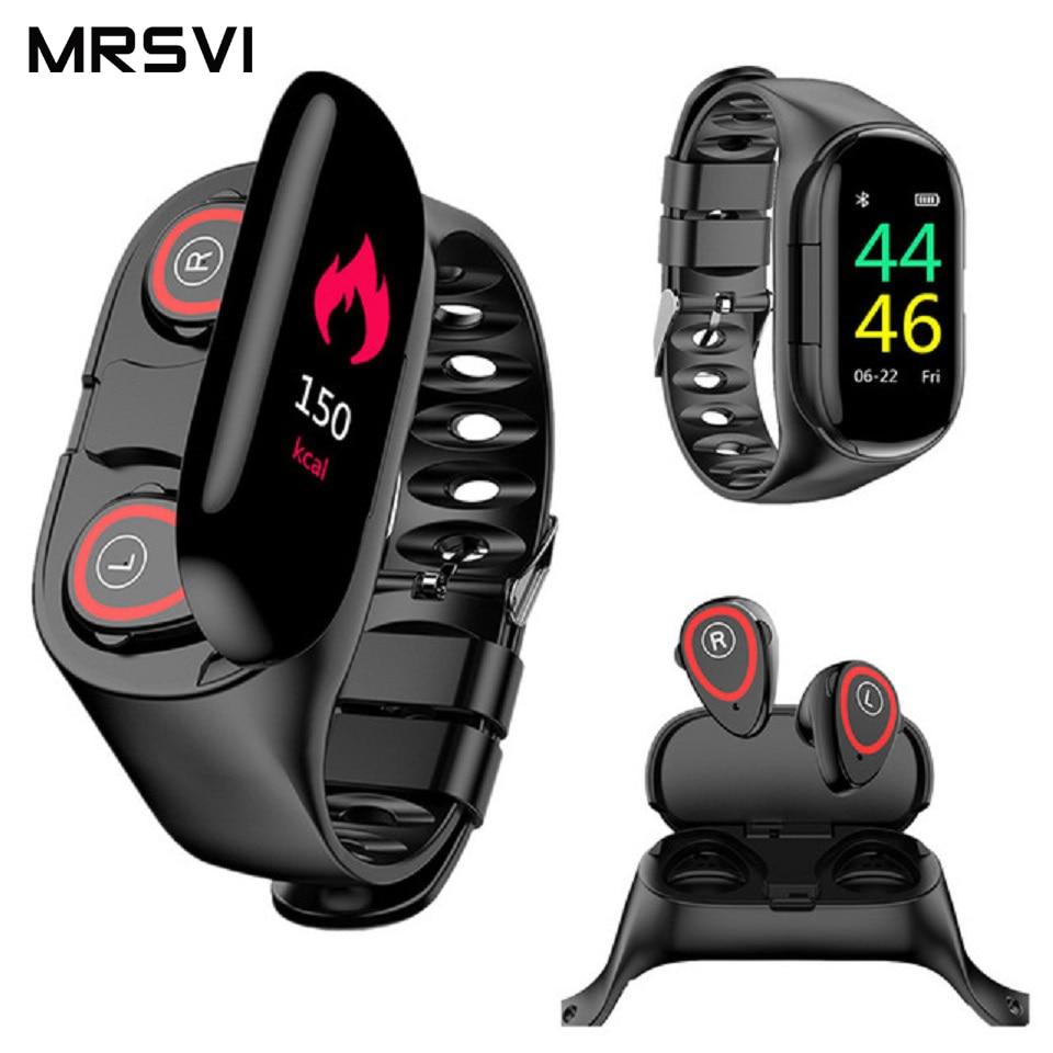 M1 Smart Watch Newest AI Smart Wristband With Bluetooth Earphone Heart Rate Moitor  Long Time Standby Sport Watch Men
