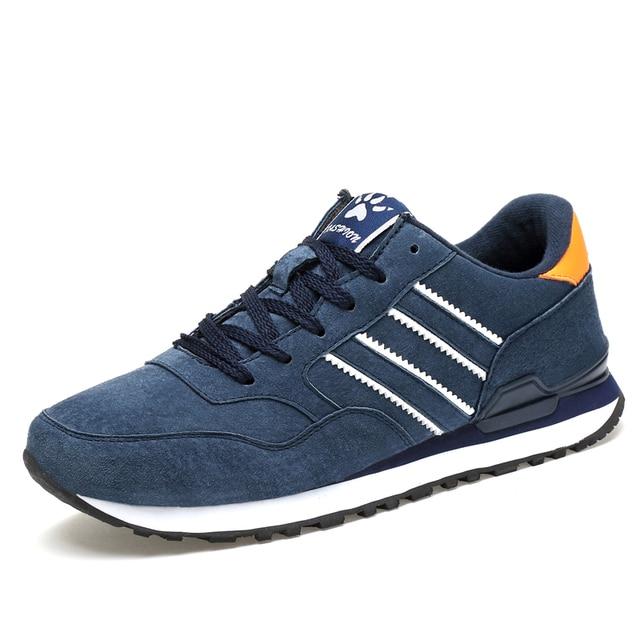 Valstone Mannen Lente Sneakers Echt Lederen Zomer Mocassin Waterdichte Rubberen Antislip Schoenen Comfortabele Lopen Schoenen Grijs Blauw