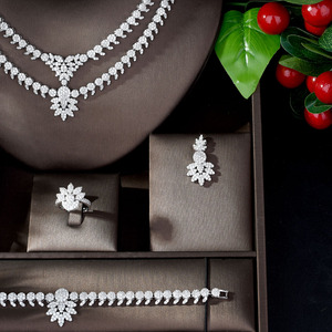 Image 3 - HIBRIDE Luxury Classic White Gold Color AAA+ CZ Stone Wedding Bridal Dress Accessories party Jewelry Sets for Women N 1197