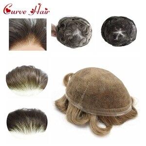 Полностью швейцарские кружевные волосы США, все кружевные парики для мужчин, все цвета, человеческие волосы, замена для мужчин, Т-образный с...