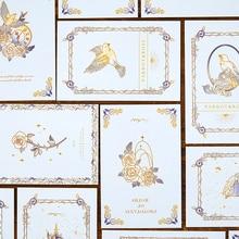 30 unids/lote pósteres de rosas clásicas Estilo Vintage tarjetas postales de memoria Set de tarjetas de felicitación regalo Año Nuevo postales sd0565