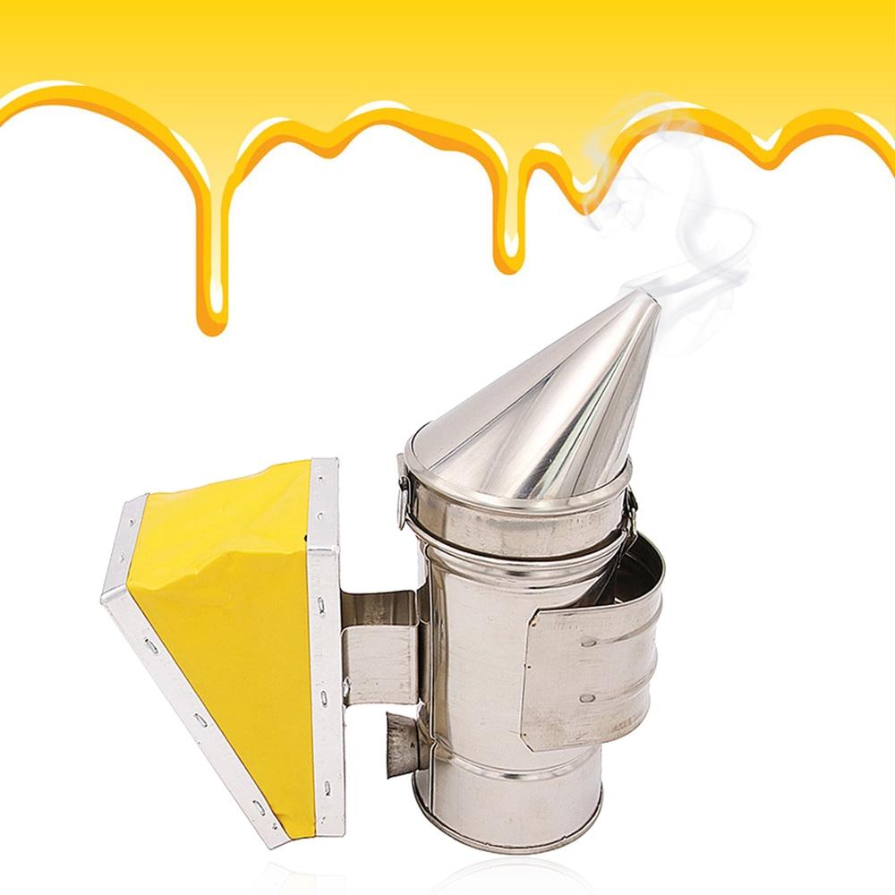 Bee Smoke Maker Manual Bee Hive Transmitter Kit Beekeeping Tool High Qualituy Beekeeping Equipment Stainless Steel For Beekeeper