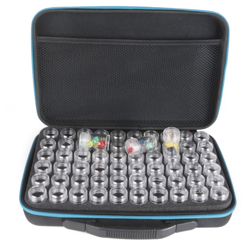 15/30/60120 Bottles Diamond Painting Accessories Container Storage Bag Carry Case  Box Convenience Bead Storage Bead Mural Tools