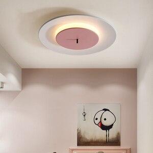 Image 4 - โมเดิร์น LED โคมไฟเพดาน Nordic เหล็กเด็กห้องนั่งเล่นโคมไฟเพดานห้องนอนร้านอาหารในร่มโคมไฟสร้างสรรค์