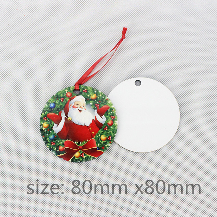 30pcs sublimation blank heat transfer printing Christmas decoration pendant  MDF two-sided printing new DIY gifts 30pcs lot