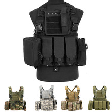 Hunting Tactical Camouflage Vest MOLLE Airsoft Paintball Protective Vest  MilitaryShooting Army CS Tactical Equipment жилет армейский no molle cs