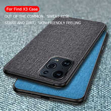 Custodia per OPPO trova X3 X2 Pro semplice copertura in tessuto per Jeans per trovare X3 X2 Neo X3 Lite materiale plastico e custodie in TPU