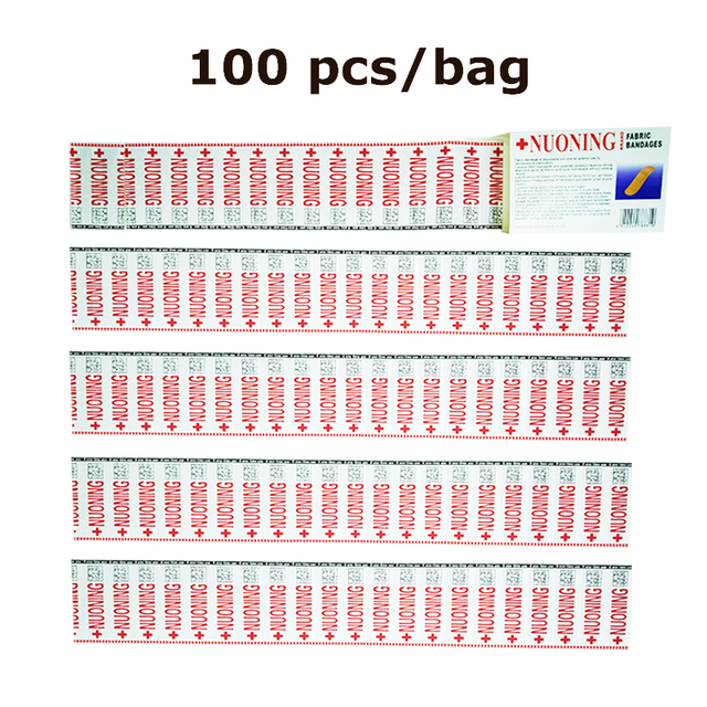 100pcs Waterproof Bandages First Aid Hemostasis Band-Aid Stickers Medical Plaster Wound Patches Emergency Kit H050 1