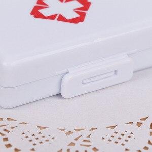 Image 3 - 1pcプラスチック7日折りたたみミニピル救急キットボックス医薬品タブレット収納トラベルケースホルダーコンテナ
