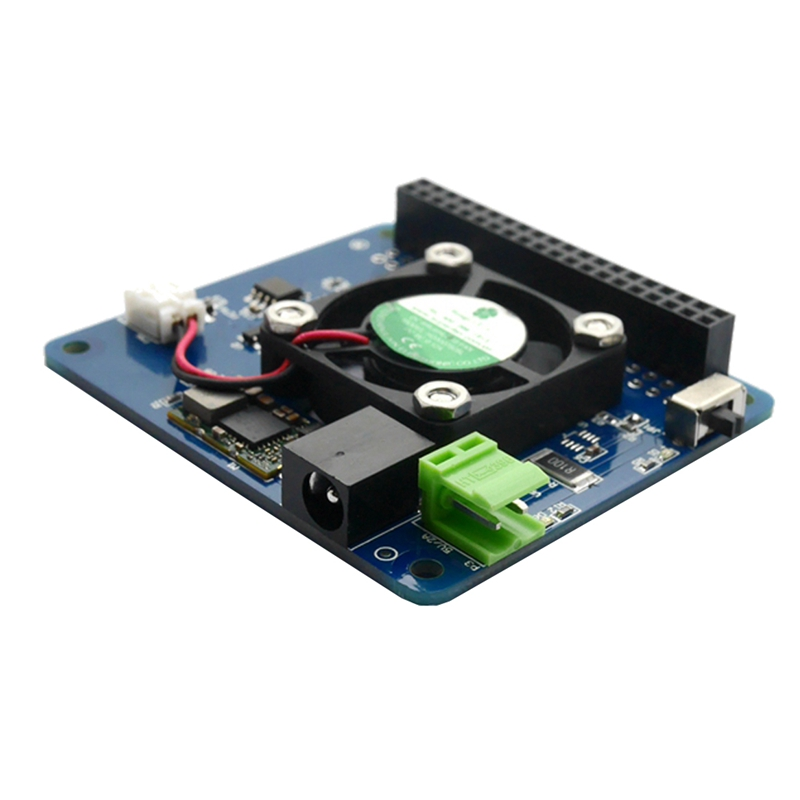 For Raspberry Pi 3 Model B+(Plus)/3B Programmable Smart Temperature Control Fan+Power Hat Board
