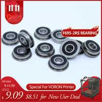 F695-2RS portant 5*13*4mm (10 pièces) ABEC-1 à bride Miniature F695 RS roulements à billes F695RS pour imprimante 3D VORON Mobius 2/3