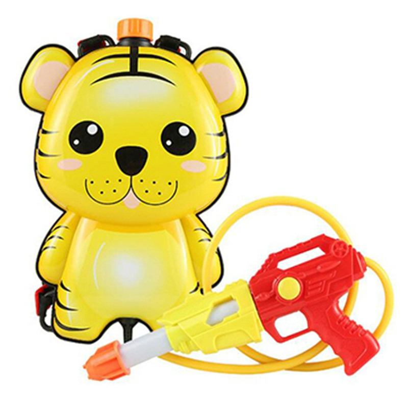 Children's Water Sprinklers Summer Backpack Sprinklers Cartoon Backpacks Beach Toys Water High Pressure Sprayers Tiger