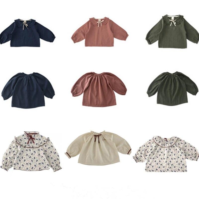 Kids T-shirt Liilu Brand Tops Baby Girls Shirts Long Sleeve Children Linen Boys Clothes Girl Tees 2020 New Autumn Thanksgiving 1