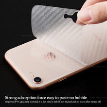 Anti-fingerprint Carbon Fiber Back Screen Protector Film For iPhone 6 6s 7 8 Plus X XS XR XS Max back film for iPhone 8 7 6 6s(China)