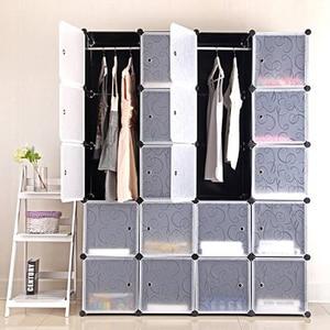 Home Furniture Detachable Plastic Wardrobe Assembly Locker Clothes Cabinet Wardrobe Closets Bedroom Storage Box Organizer HWC