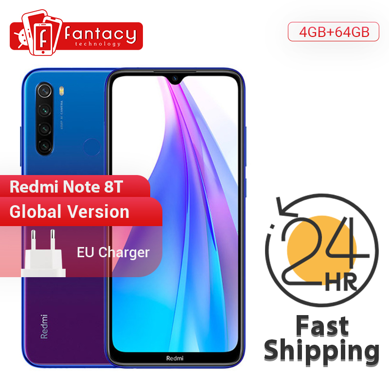 New Arrival Global Version Redmi Note 8T 8 T 4GB RAM 64GB ROM Snapdragon 665 Octa Core 48MP Quad Camera 6.3' FHD+ Screen 18W NFC