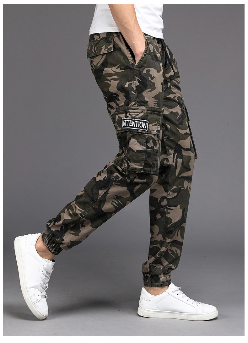 KSTUN Cargo Pants Men Camouflage Harem Joggers Men's Causal Hip Hop Trousers Drawstring Sweatpants Male Large Size Pants Good Quality 12