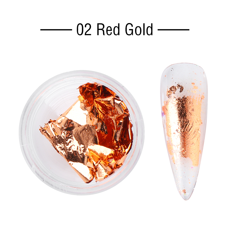 1 Box Gold Glitter Flakes Irregular Aluminum Foil Sequins For Nails Chrome Powder Winter Manicure Nail Art Decorations LY1858-1 20