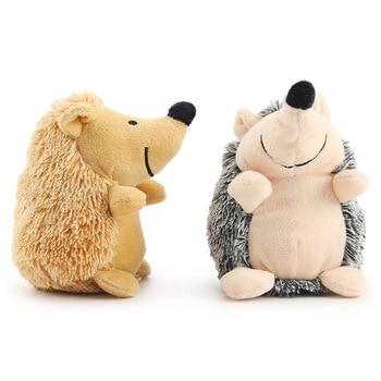 Ежик Мягкие плюшевые игрушки для собак маленькие/большие собаки интерактивные/скрипучие звуковые игрушки жевательные укусы устойчивые иг...
