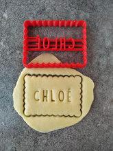Nome personalizado cortador de biscoito, molde de biscoito de chocolate, cortadores de biscoito, faça seu design cortadores de biscoito