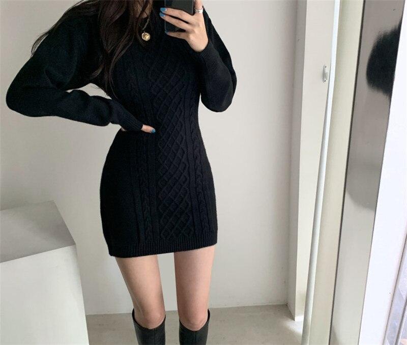 Winter Sweater Bodycon Dress