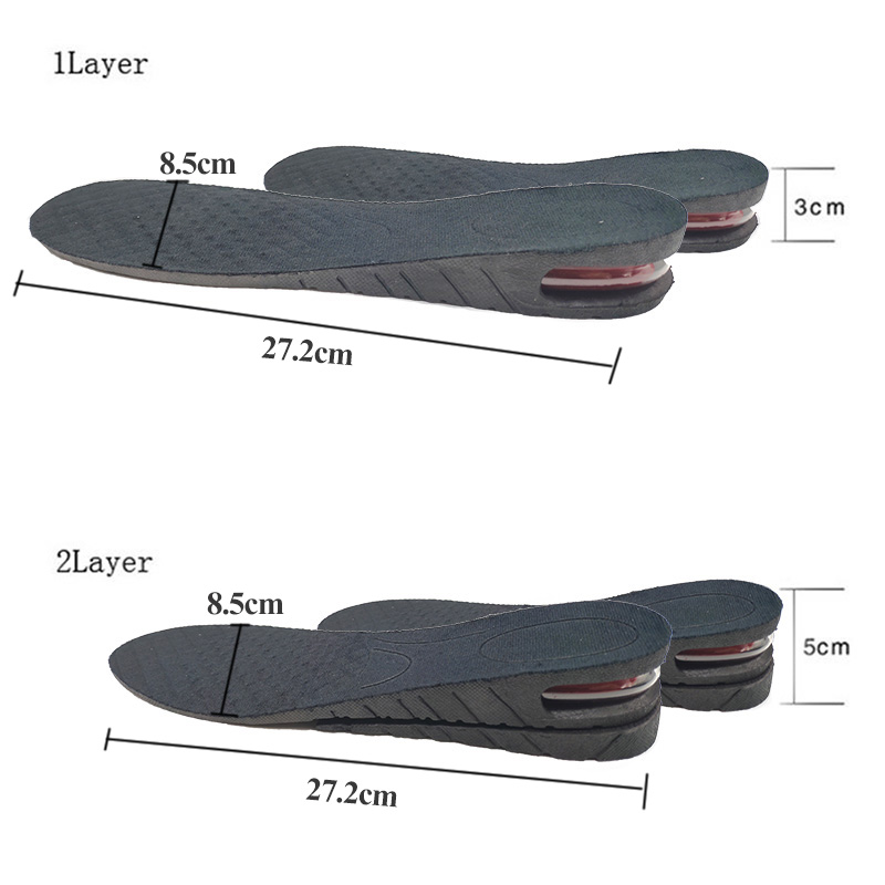 3-9cm Height Increase Insole With Air Cushion Height Lift Adjustable Cut Shoe Heel Insert Taller Support Absorbant Foot Pad