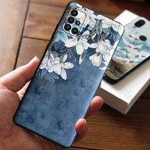 Para Fundas Samsung Galaxy A51 A71 A50 A70 A50S A30S 2020 Caso A515 Para Samsung A51 UM 51 71 50 Casos Cobrir 3D Flores Caso de Telefone