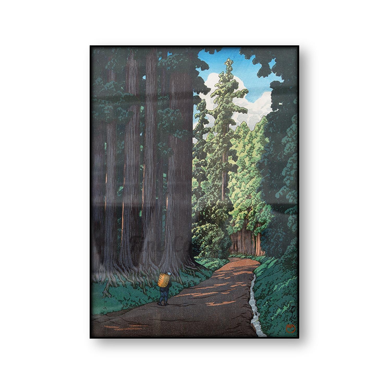 Японский плакат роуд к Nikko Kawase Hasui винтажный холст печать деревянных блоков репродукция азиатское искусство лес пейзаж настенное искусство