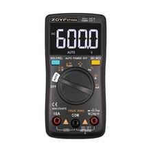 ZOYI multímetro Digital portátil de rango automático, amperímetro con retroiluminación, voltímetro Ohm, ZT101/ZT102/ZT102A, 6000 recuentos