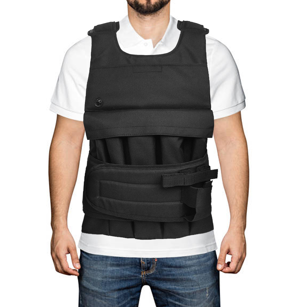 Loading Weighted Vest For Boxing Training Workout Fitness Equipment Adjustable Waistcoat Jacket Sand Clothing