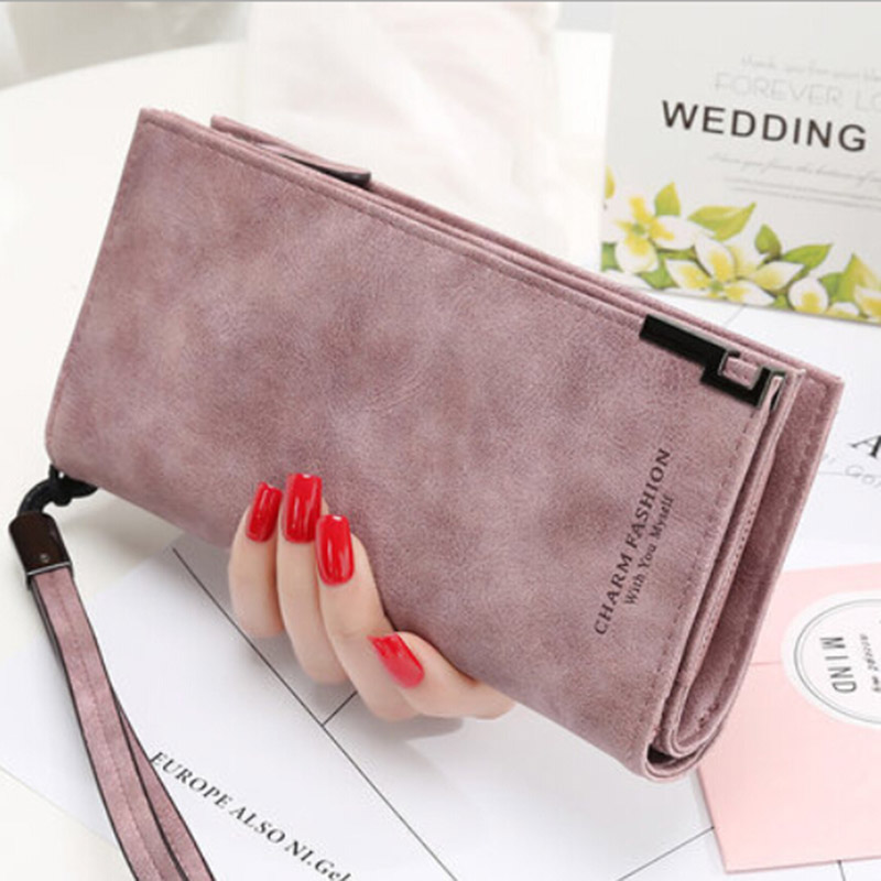 PU Leather Women Wallets Fashion Ladies Long Carteira Money Bag Coin Purse Credit Cards Holder Clutch Phone Pocket Wallet Femme
