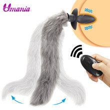 Fox Tail Vibrator Usb Rechargeable Silicone Anal Plug Butt Plug Wireless Remote Control