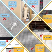 Anti-mosquito Door Curtain And Insect-Proof Automatic Door Gauze Custom Invisible ,Large-Size Closing Curtain T0O4