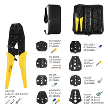 Multi Functional 9-Inch HS-03BC Crimp Tool And Interchangeable Die Wire Crimp Tool Coaxial Cable Terminal Kit 230mm Clamp Tool