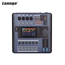Lannge MD 2006 ポータブル 6 チャンネルデジタルミキシングコンソールミキサー液晶タッチスクリーン内蔵効果 usb インタフェースミキサーオーディオ