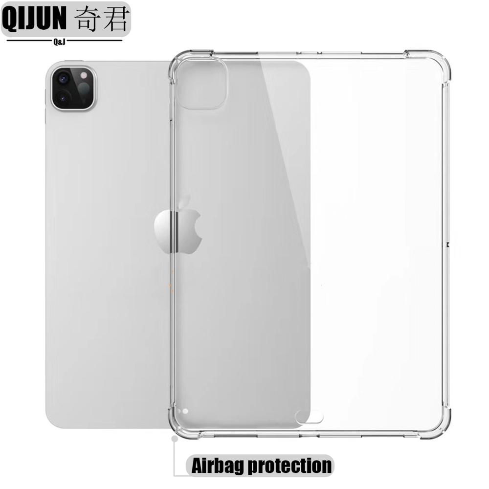 for pro 12.9 2021 White Tablet case for Apple ipad Pro 12 9 2021 Silicone soft shell TPU Airbag cover Transparent