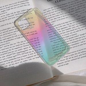 Image 4 - Dla iphone 12 12Pro Max przezroczysty laser odporny na wstrząsy etui dla iphone 11 11pro X XR XS Max 7 8Plus SE twardy akryl skrzynki pokrywa