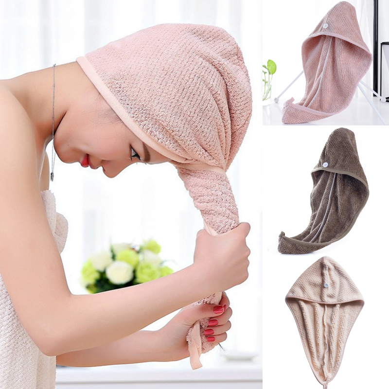 Magic Microfiber Hair Fast Drying Dryer Towel Bath Wrap Hat Quick Cap Turban Dry