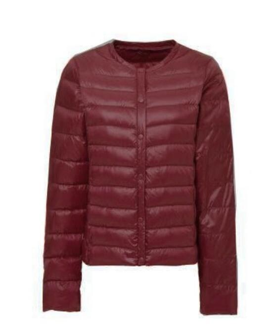 Hot 2020 Winter New Lightweight Duck Down Liner Round Neck Down Jacket Ladies Long Sleeve Slim Jacket