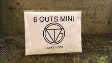 Six Outs Mini (Gimmicks et Instructions en ligne) par Blake Vogt tours de magie mentalisme Illusions gros plan prévision magique drôle