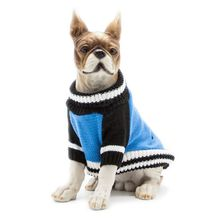 Pet Autumn And Winter Color Matching Two-legged Sweater Blue Blocking Two Feet Warm For Dogs Clothes Clothing H1