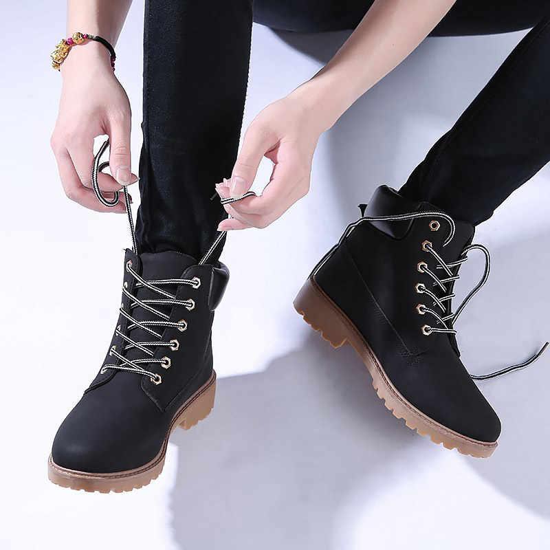 Mới Đầu Mùa Đông Nga Giày Thời Trang Nữ Nền Tảng Mắt Cá Chân Giày Đế Bằng Nữ Giày Cao Gót Botas Mujer
