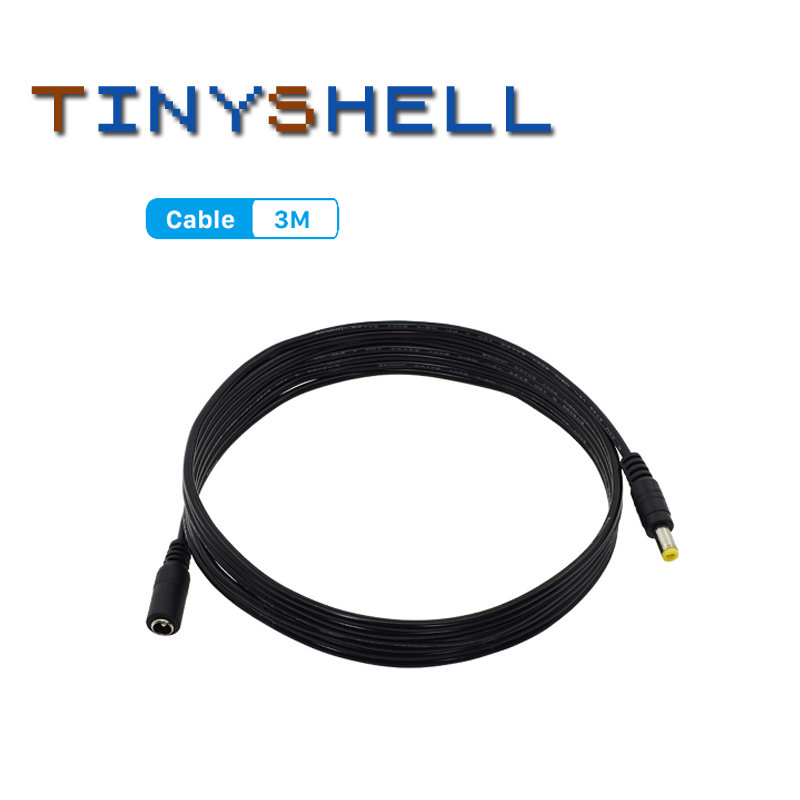 1pcs DC Power Extension Cable 3 Meter/ 10FT Jack Socket To 5.5mmx2.1mm Male Plug For CCTV Camera 12 Volt Extension Cord