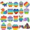 Rainbow Bubble Pops Fidget Kids Toy Sensory Autisim Special Need Its Anti-stress Stress Relief Squishy Fidget Toy Random Color