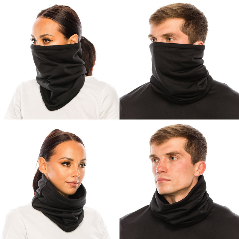 Infinity Scarf Cover-Mask Neck-Warmer Face Cozy Plush-Fur Gator Polar-Fleece Micro Winter