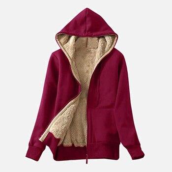 Chaqueta de abrigo de invierno informal para mujer, abrigo de abrigo cálido con cremallera, con capucha, estilo japonés, Parkas para mujer, moda sólida, abrigos para mujer, Parka