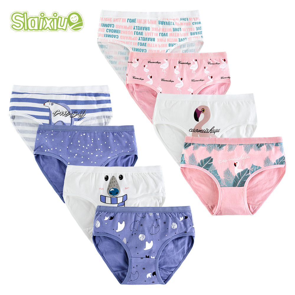 4pcs/lot Cotton kid underwear   panties   for girls children boxers briefs   panty   for 9-20 Years old teenager clothes