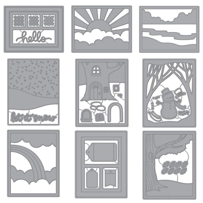 Hello Blue Bird Frame Set Metal Cutting Dies For DIY Scrapbooking Photo Album Decorative Embossing Paper Card Crafts Die 2019