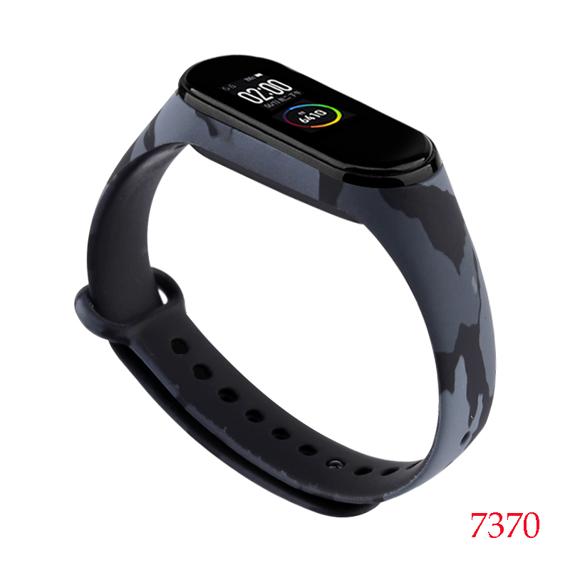 Для Xiaomi Mi Band 4/3 ремешок Металлическая пряжка силиконовый браслет аксессуары miband 3 браслет Miband 4 ремешок для часов М - Цвет: 7370